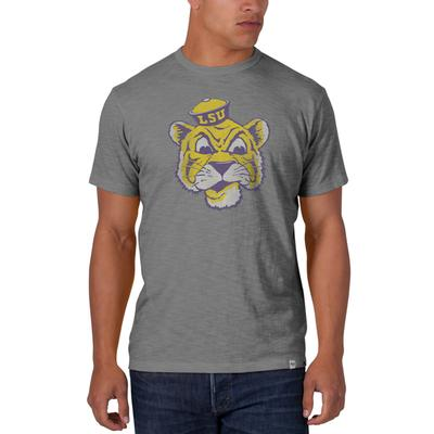LSU '47 Brand Cartoon Tiger Scrum Tee