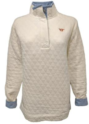 Virginia Tech Southern Tide Women's Quilted Pullover