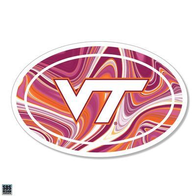 Virginia Tech Marble Decal
