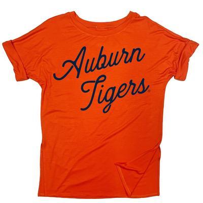 Auburn Kickoff Couture Spirit Side Slit Tee