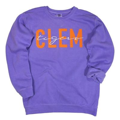 Clemson Kickoff Couture Iconic Crewneck Pullover