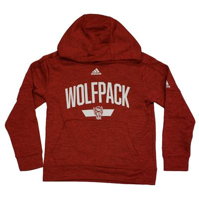 NC State Adidas Youth Arch Fleece Hoodie
