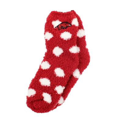 Arkansas ZooZatz Fuzzy Dot Socks