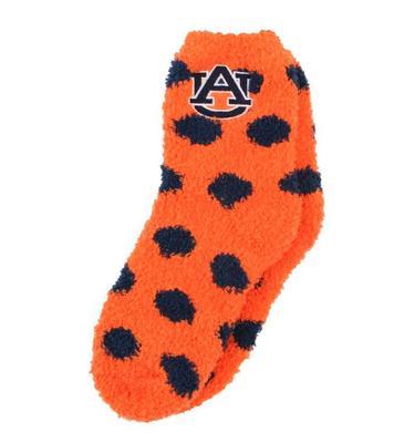 Auburn ZooZatz Fuzzy Dot Socks