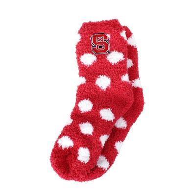NC State ZooZatz Fuzzy Dot Socks