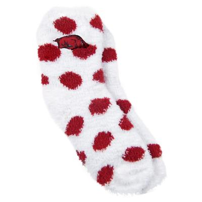 Arkansas ZooZatz Reverse Fuzzy Dot Socks