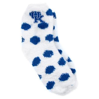 Kentucky ZooZatz Reverse Fuzzy Dot Socks