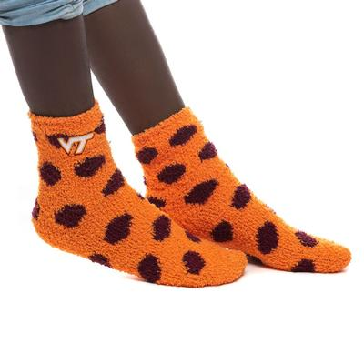 Virginia Tech ZooZatz Reverse Fuzzy Dot Socks