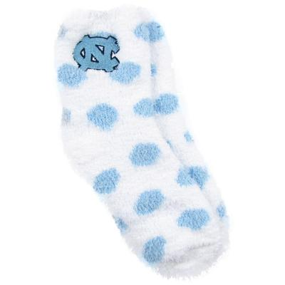 North Carolina ZooZatz Reverse Fuzzy Dot Socks