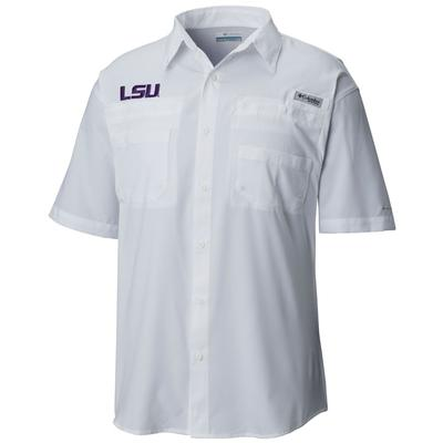 LSU Columbia Tall Sizes Tamiami Short Sleeve Shirt