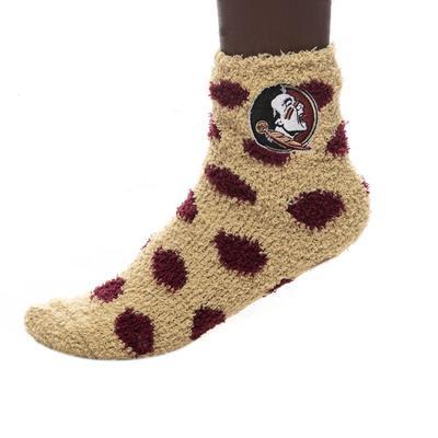 Florida State ZooZatz Reverse Fuzzy Dot Socks