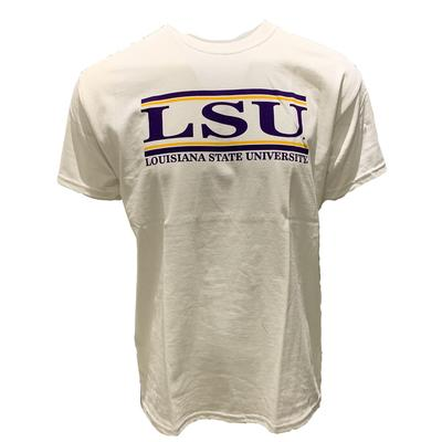 LSU Men's University Bar Tee WHITE
