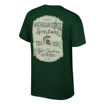 Michigan State Women's Plaque and Logo Tee Shirt