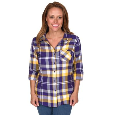 LSU University Girl Boyfriend Plaid