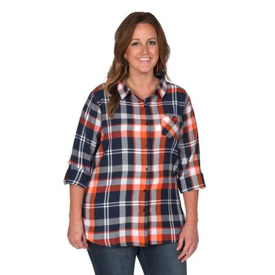 Auburn University Girl Boyfriend Plaid - Plus Sizes