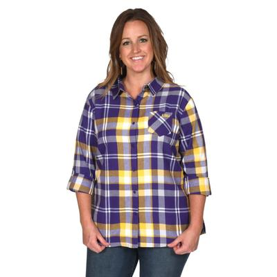 LSU University Girl Boyfriend Plaid - Plus Sizes