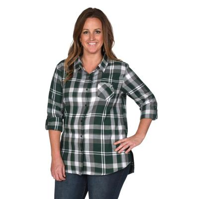 Michigan State University Girl Boyfriend Plaid - Plus Sizes