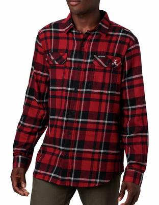 Alabama Columbia Flare Gun Flannel Woven Shirt