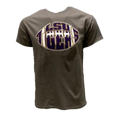 LSU Men's Tiger Football Shape Tee
