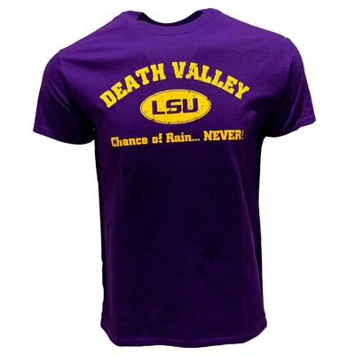 LSU Men's Chance of Rain Never Tee