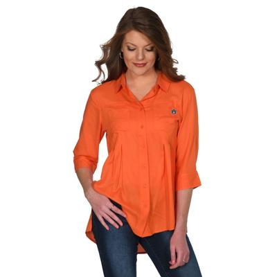 Auburn University Girl Front Pleat Button-Up