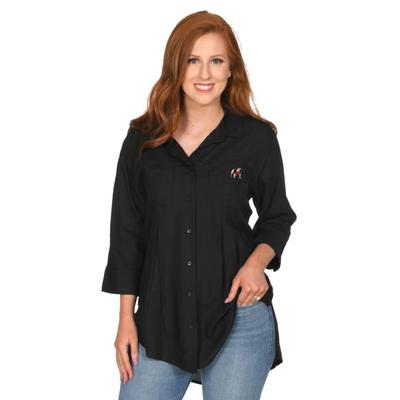 Georgia University Girl Front Pleat Button-Up