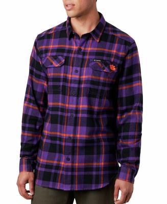 Clemson Columbia Flare Gun Flannel Woven Shirt