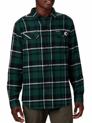 Michigan State Columbia Flare Gun Flannel Woven Shirt
