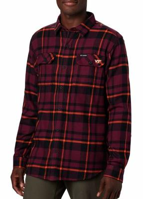 Virginia Tech Columbia Flare Gun Flannel Woven Shirt