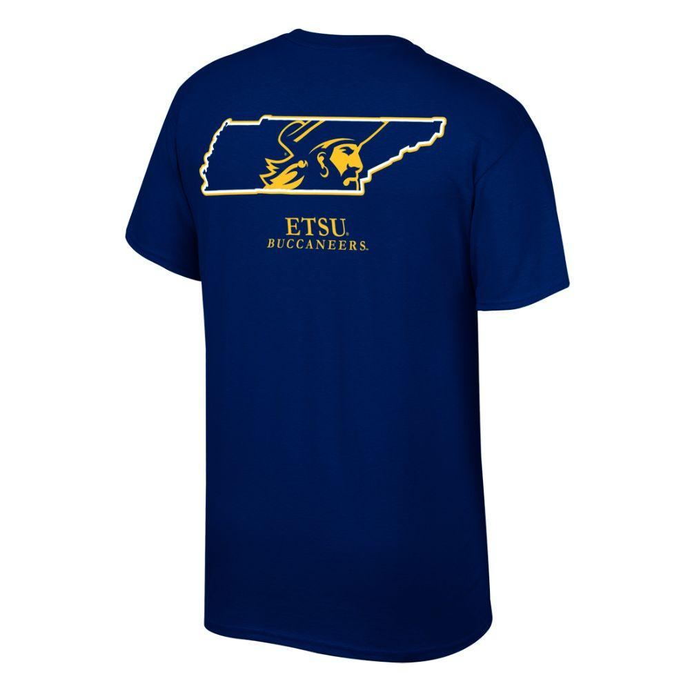 Etsu Buc Logo In State Tee Shirt