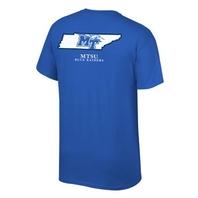 MTSU MT Logo in State Tee Shirt