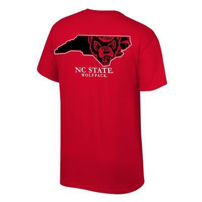 NC State Mascot Logo in State Tee Shirt