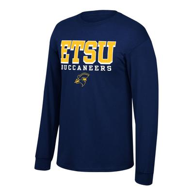 ETSU Men's Stacked Logo Long Sleeve Tee