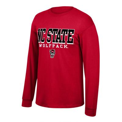NC State Men's Stacked Logo Long Sleeve Tee Shirt