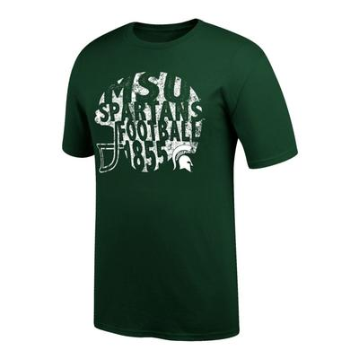 Michigan State Women's Football Helmet Tee Shirt