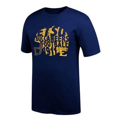ETSU Women's Football Helmet Tee Shirt