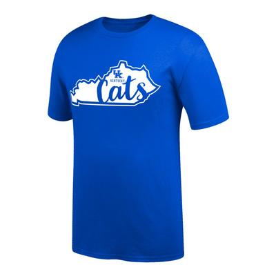 Kentucky Women's Script Cats in State Tee Shirt