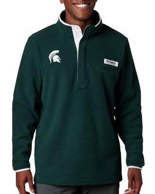 Michigan State Columbia Harborside Fleece Pullover - Tall Sizing