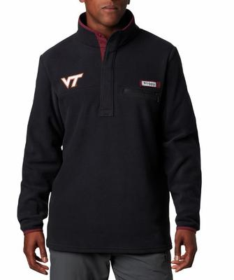 Virginia Tech Columbia Harborside Fleece Pullover - Tall Sizing