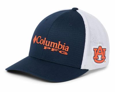 Auburn Columbia PFG Mesh Flex Fit Hat