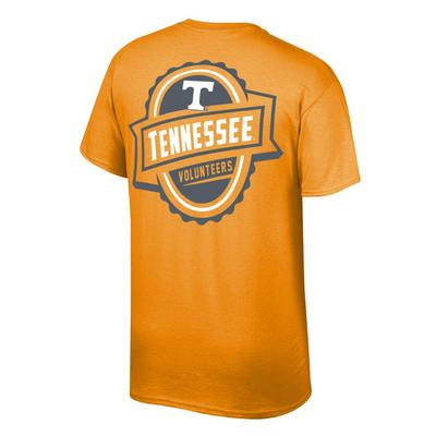 Tennessee Banner Label Tennessee Volunteers Tee Shirt