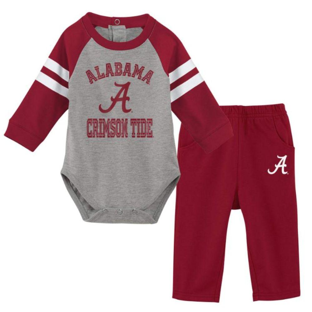 Alabama Gen2 Newborn L/S Creeper And Pant Set