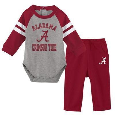 Alabama Gen2 Newborn L/S Creeper and Pant Set