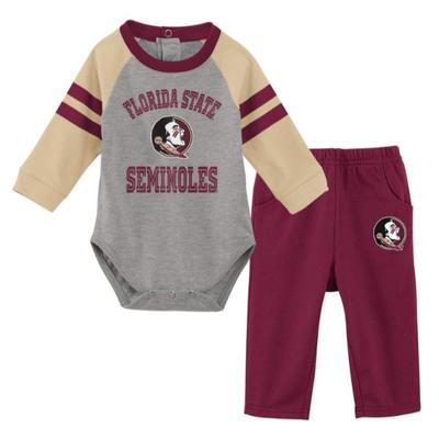 Florida State Newborn L/S Creeper and Pant Set