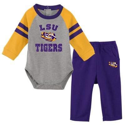 LSU Newborn L/S Creeper and Pant Set
