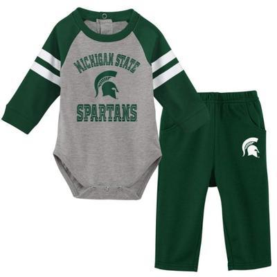 Michigan State Newborn L/S Creeper and Pant Set