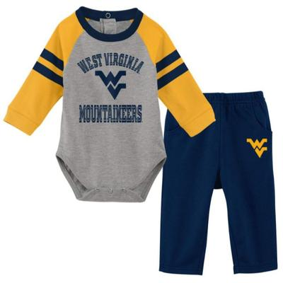 West Virginia Newborn L/S Creeper and Pant Set