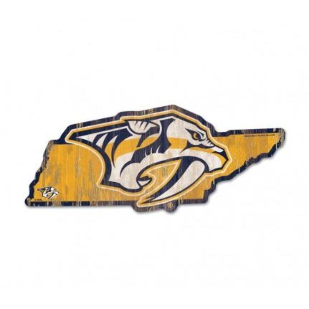 Nashville Wincraft Preds State Shape Sign