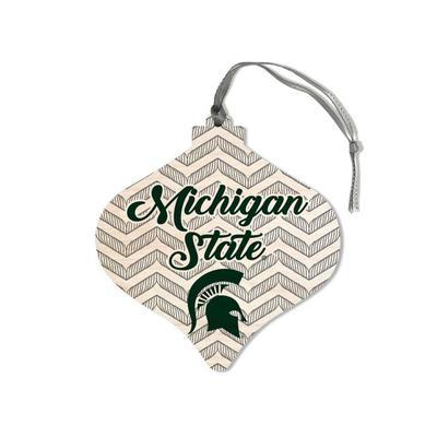 Michigan State Legacy Chevron Bulb Ornament