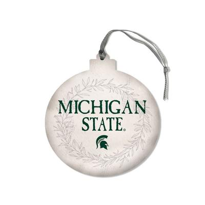 Michigan State Legacy Laurels Round Ornament